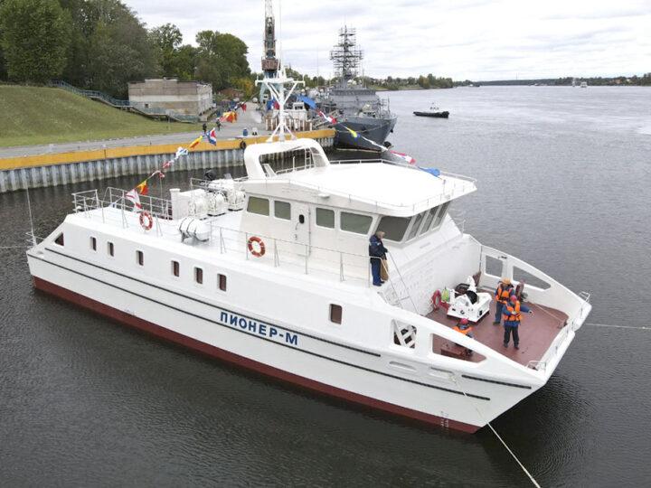 Спущено на воду экспериментальное исследовательское судно «Пионер-М»